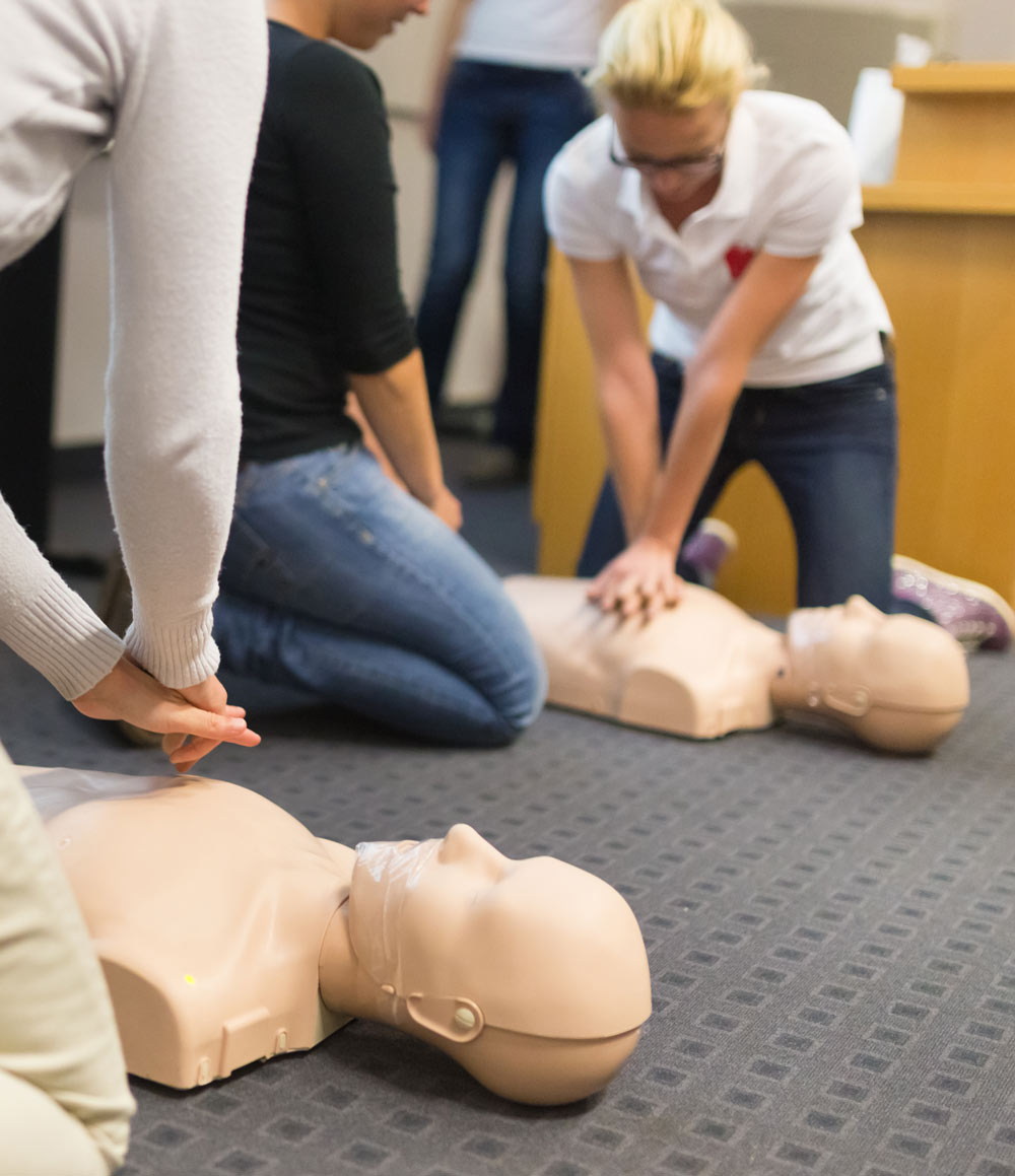 A CPR and AED class