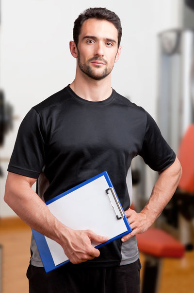 A PT holding a clipboard
