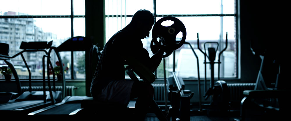 A man working out with a barbell